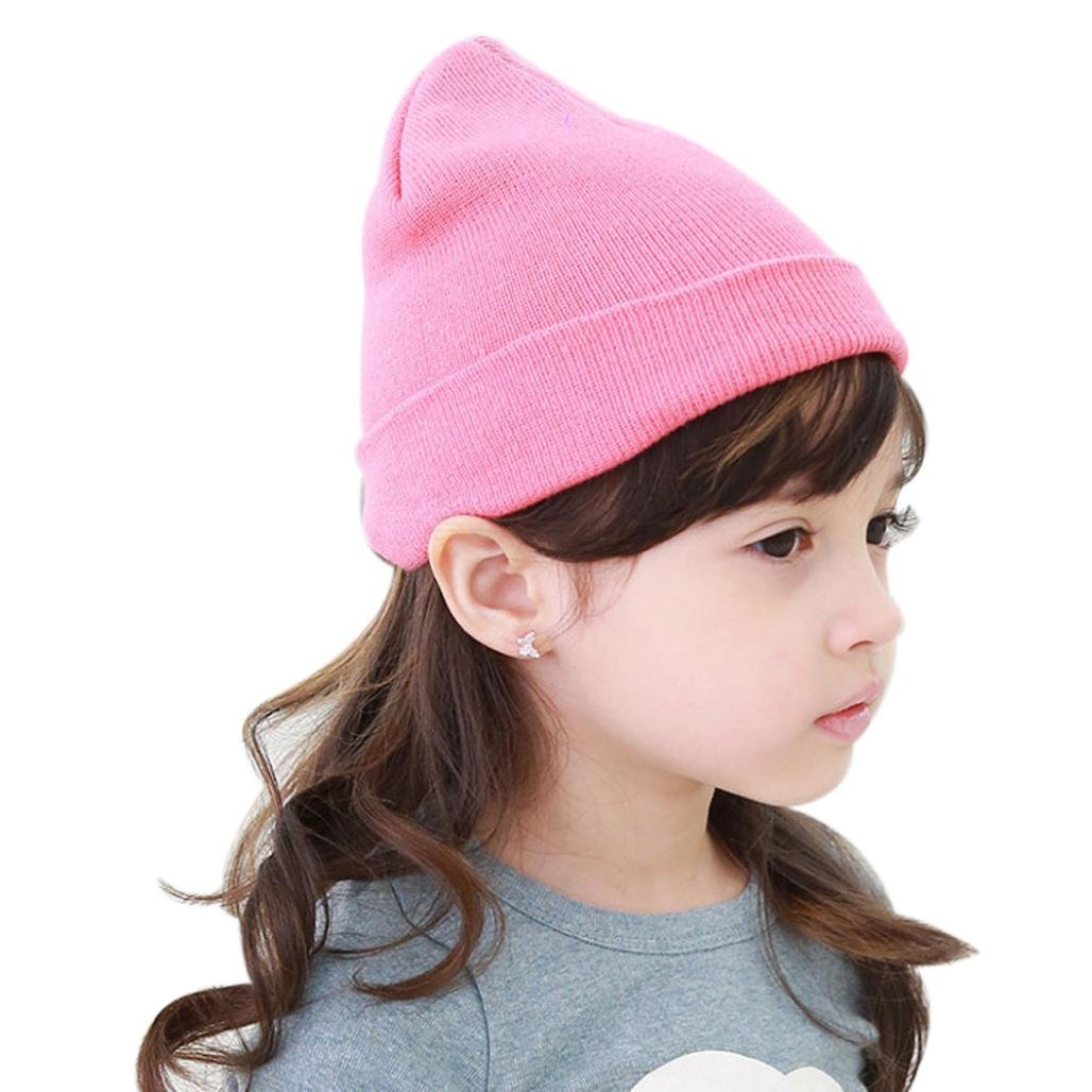WensLTD Baby Beanie Boy Girls Soft Hat Children Winter Warm Kids Knitted Cap