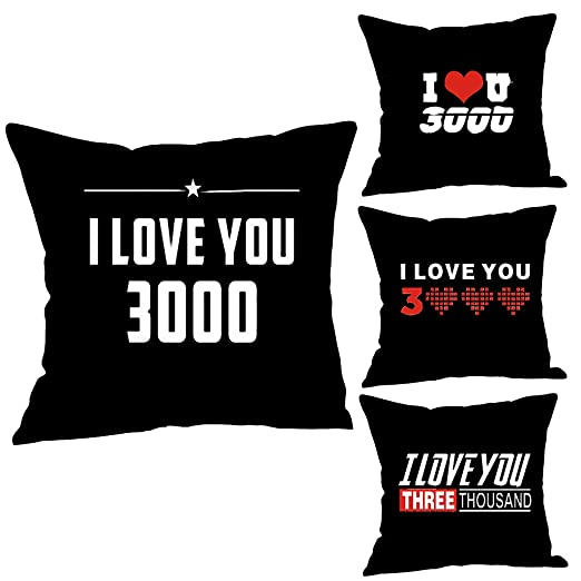 Amazon.com: Little Story 🎁 Flax Pillowcase, I Love You ...