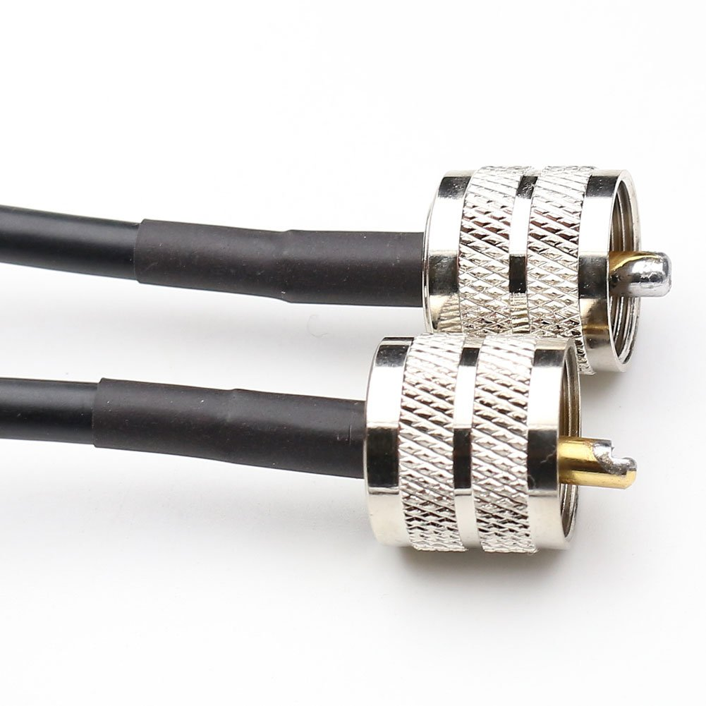 ANHAN UHF Male PL-259 to UHF Male PL259 Low Loss Coax Cable RG58 cable pigtail Jumper RF coaxial cable 2.78 Ft/85cm 1Pack