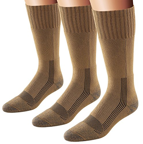 - Fox River Men's Wick Dry Maximum Mid Calf Military Sock, 3 Pack (Coyote Brown, Large)