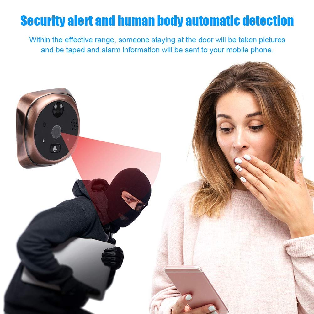 4.3'' LED Digital Peephole Door Viewer 720P Smart Vision Door Camera Monitor Indoor Viewer IR Night Vision Motion Detection Noise Cancellation 166 Degrees Wide Angle WiFi - iOS, Android, Mac by Sonew (Image #5)