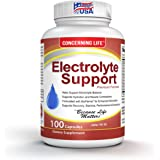 Electrolyte Supplement Vegetable Capsules -Low Carb, Rehydration & Recovery - Perfect for Keto, Electrolytes Replacement, Athletes, Runners - Vitamin D, Electrolyte Salts, Magnesium, Sodium, Tablets