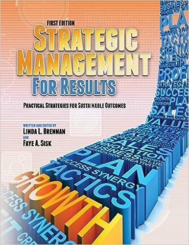 Téléchargement gratuit de livres pdf Strategic Management for Results: Practical Strategies for Sustainable Outcomes (First Edition) (2012-06-01) PDF