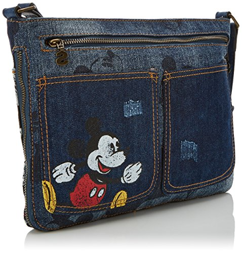 Desigual Bols_exotic Mickey Baqueira, Womens Cross-Body Bag, Blue (Denim Dark Blue), 2x23x30.5 cm (B x H T): Handbags: Amazon.com