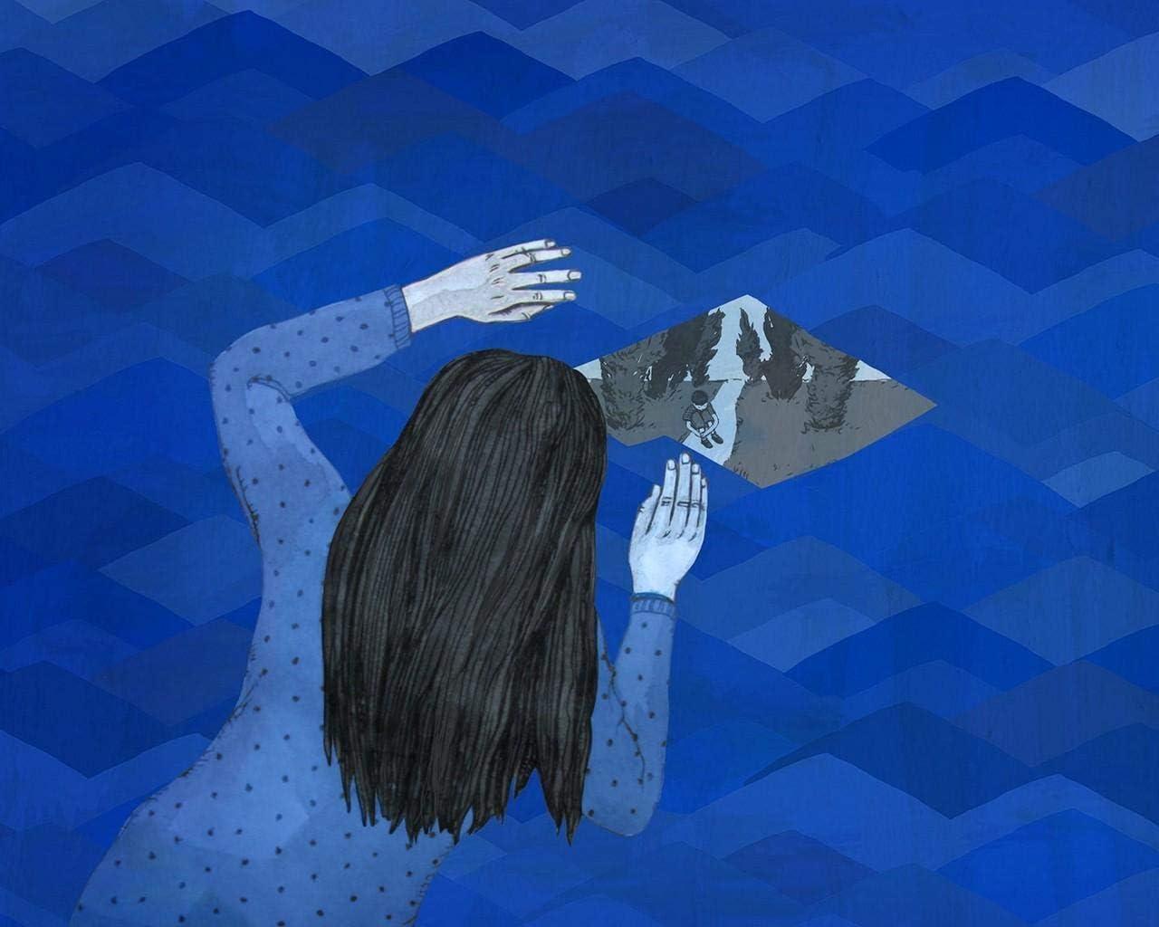 Kpoiuy Pintar por NúMeros DIY Fondo De Pantalla Conciencia del Autismo DíA De La Conciencia del Autismo DecoracióN De La Boda De La Lona Imagen del Arte Regalo 40 * 50CM
