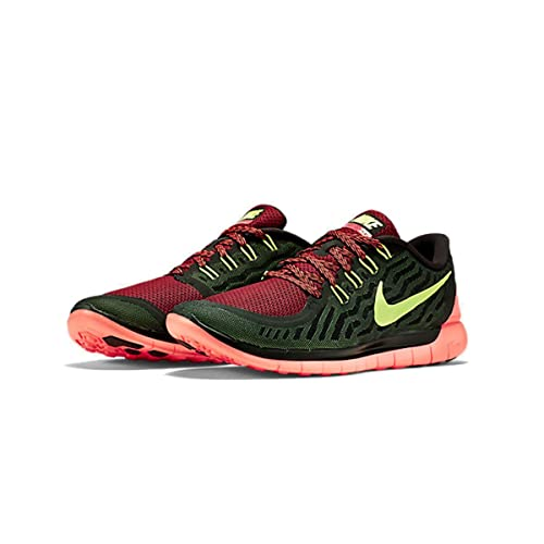 best sneakers 1ccb5 bb41d Nike Free 5.0 Running Shoes 724382-006 Black Volt Gym Red 14 ...