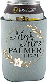 product image for Personalized Wedding Can Coolies Mr & Mrs Your Names & Date Wedding Party Supplies Wedding Décor 12 Pack Can Coolie Drink Coolers Coolies Multi (Mr and Mrs 2, 24)