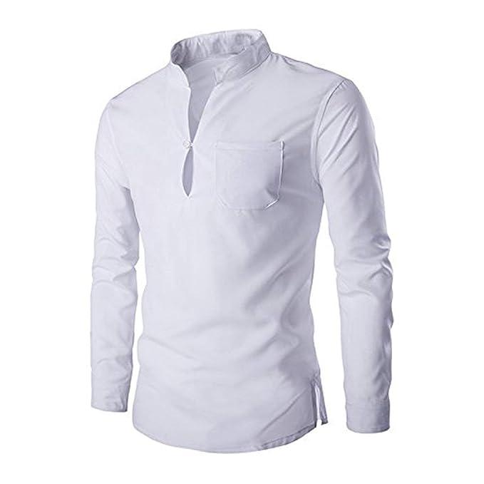 original de premier ordre comment acheter lacer dans Huntty Men's Casual Dress Shirts Mandarin Collar Unique Slim ...