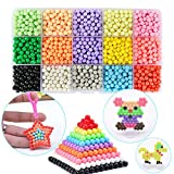 FanBeads Magic Water Sticky Beads Compatible Aquabeads Beados 15 Colors 2200 Beads Set Art Crafts Toys Beginners Complete Set