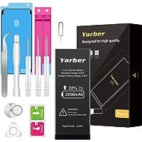 Batterie pour iPhone 6 2200mAh, Yarber Batterie Interne Haute Capacité avec 22% Plus de Pouvoir Remplacer pour Batteries iPhone 6 avec Kit de Outils - 2 Ans de Garantie