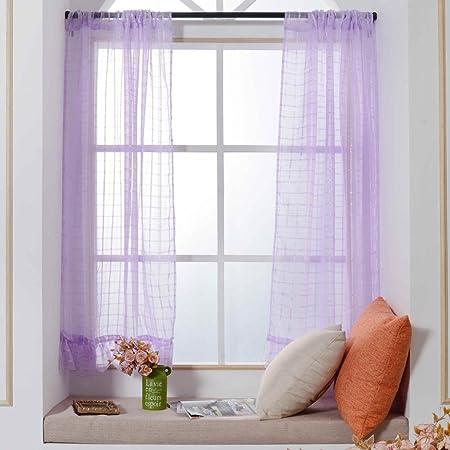 Fashion bahía ventana cortinas, Turquía 1 pc transparente Sólidos ventana Cortinas de Voile con encaje diseño de ventana tratamiento paneles puerta Drape para salón o dormitorio, 100 x 140 cm: Amazon.es: Hogar