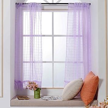 Mode Rideaux pour baie vitrée, Turquie 1 PC solide transparente ...