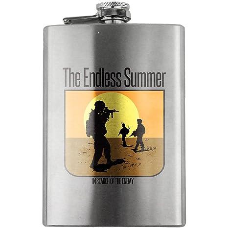 Amazon.com | Vintage Endless Summer Veteran 8oz. Flask: Flasks