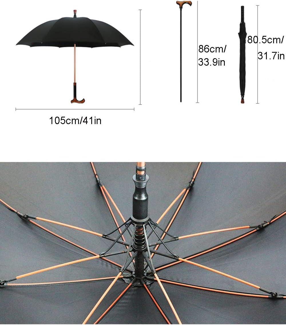 Mocor 2 in-1 Adjustable Walking Sticks Umbrella,Crutch Umbrella,Detachable Carbon fiber Walking Cane Umbrella for Climbing,Hiking,Hanging Out on Raining