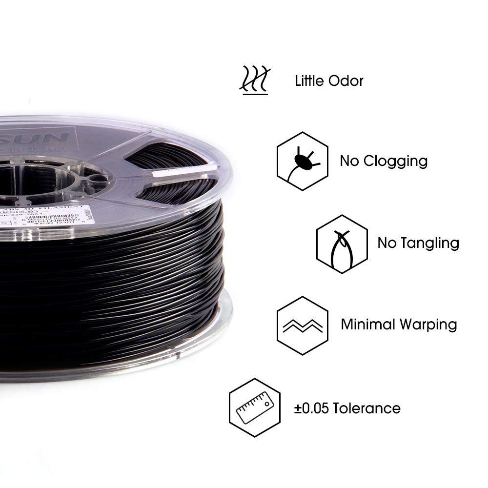 Arancia 1KG Filamento ABS 1,75mm per Stampanti 3D 2,2 LBS eSUN Stampante 3D Filamento ABS Precisione Dimensionale +//- 0,05mm