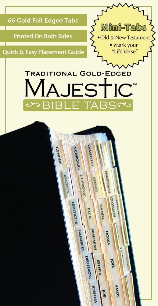 Ellie Claire Majestic Traditional Gold Bible Tabs Mini (Majestic Bible Tabs (Mini)) Book Supplement – October 1, 2008