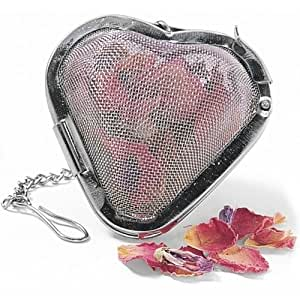 Large Stainless Steel Heart Shaped Fine Mesh Infuser Loose Tea