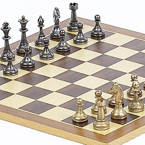 (Stefano Jr., Chessmen from Italy and Houston St. Chess Board )