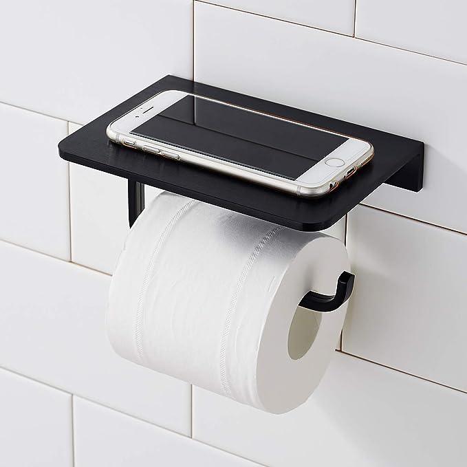silber Morfone Wandhalterung Klopapierhalter Toilettenpapierhalter ohne Bohren mit Ablage
