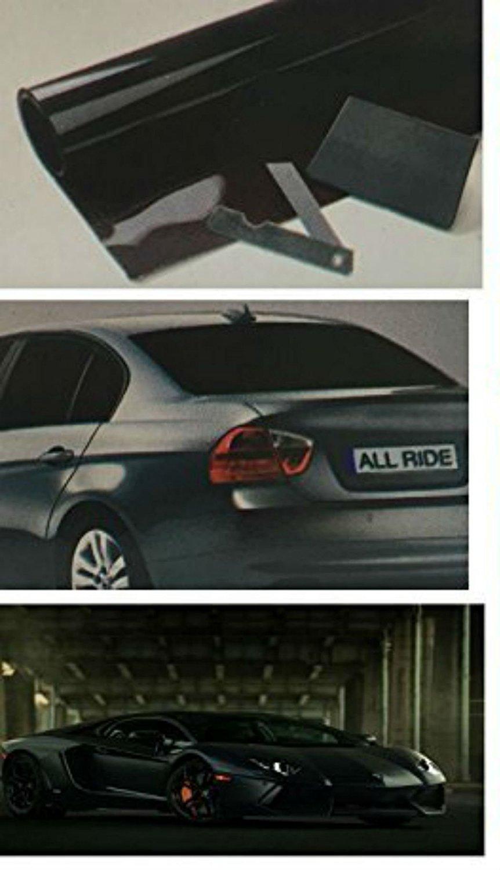 Kit di pellicola oscurante per finestrini 3 m x 50 cm furgoni e limousine misura universale colore ultra nero per ridurre il bagliore del sole da auto