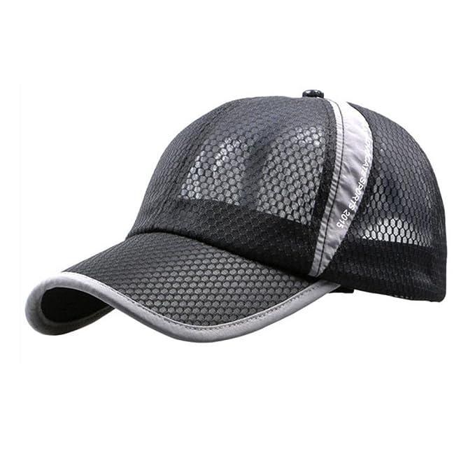 f80ef51c6bd Kolylong Unisex Men And Women Outdoor Holiday Sunshade Sun Hat Quick-dry  Ventilation Baseball Cap (Black)  Amazon.co.uk  Clothing