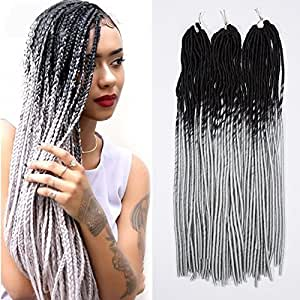 Amazon Com 24 Quot Handmade Dreads Ombre Black To Grey