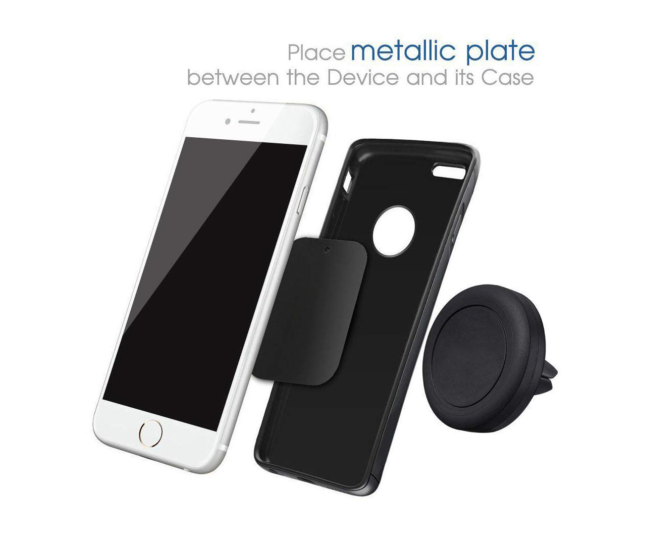 DLICO Magnetic Phone Car Mount Holder for Smartphones and Mini Tablets