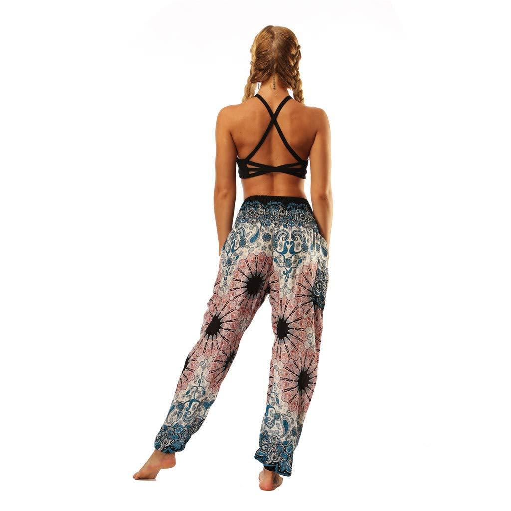 Loose Baggy Yoga Printed Wide Trousers Plus Size Beach Pants SGMORE ❤ New Season Men Women Yoga Pants