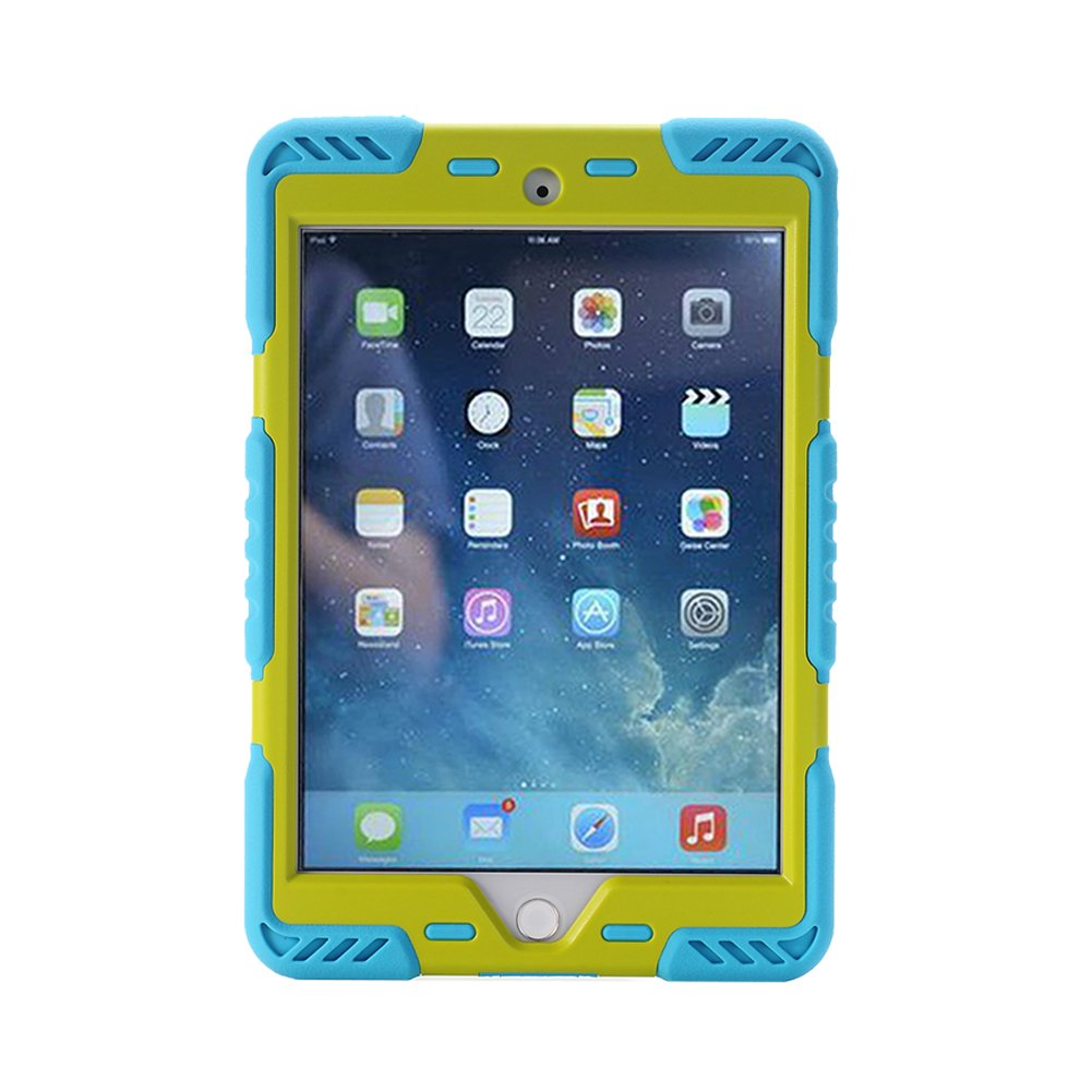 Noir+vert Meiya iPad Air 2 Coque,New Robuste Rsistant aux Chocs salet Neige Sable Proof Survivor Extreme Heavy Duty Etui iPad Air 2 Enfant Cadeau Pochette pour iPad Air 2 iPad 6