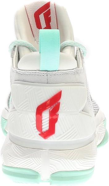 33fb3bcd80cb1 Adidas D Lillard 2.0 White/Mint Green Red Size 5.5 US - Amazon Mỹ ...