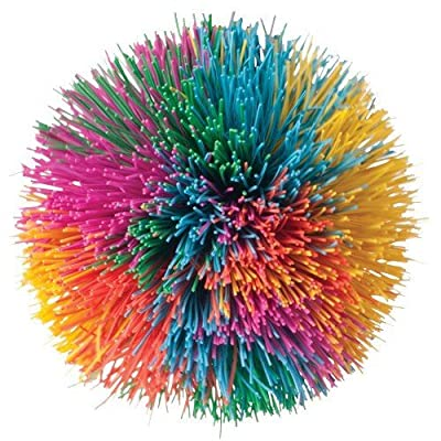 Toysmith Rainbow Pom Ball: Toys & Games