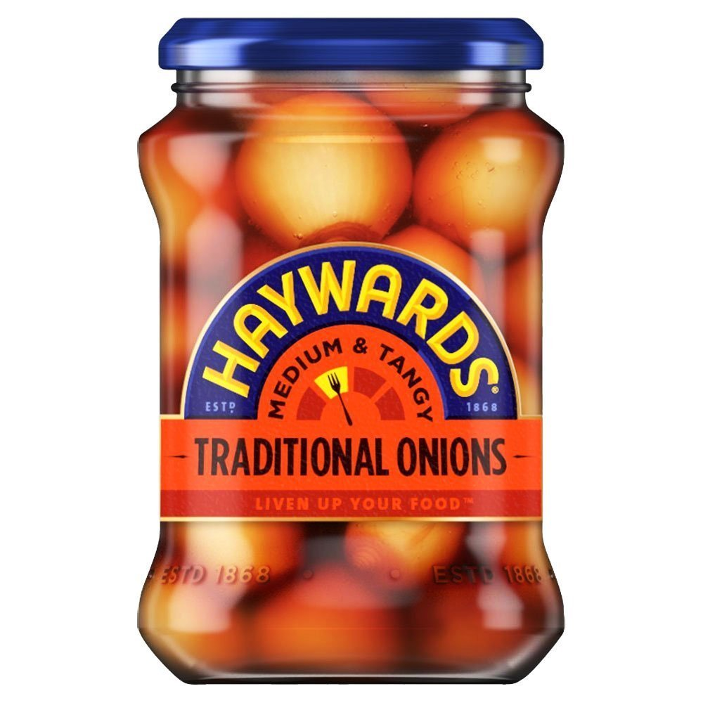 Hayward's Medium & Tangy Traditional Onions - 400g (3 Pack) by Hayward's