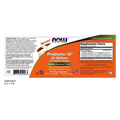 Now Foods - PROBIOTIC-10 25 BILLION - 50 veg caps