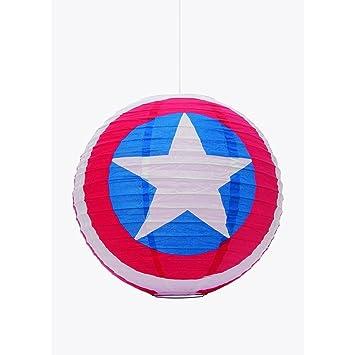 fb7d61f75d Marvel Comics Paper Light Shade Captain America 30 cm Groovy Decoration:  Amazon.co.uk: Kitchen & Home