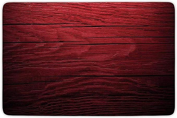 Peeeenny Beeen Alfombra de ba/ño Alfombra Microfibra de Franela Granate Tablones de Madera Tablero de Madera Imagen de Textura de /árbol Antiguo Decoraci/ón r/ústica para el hogar Negro Granate