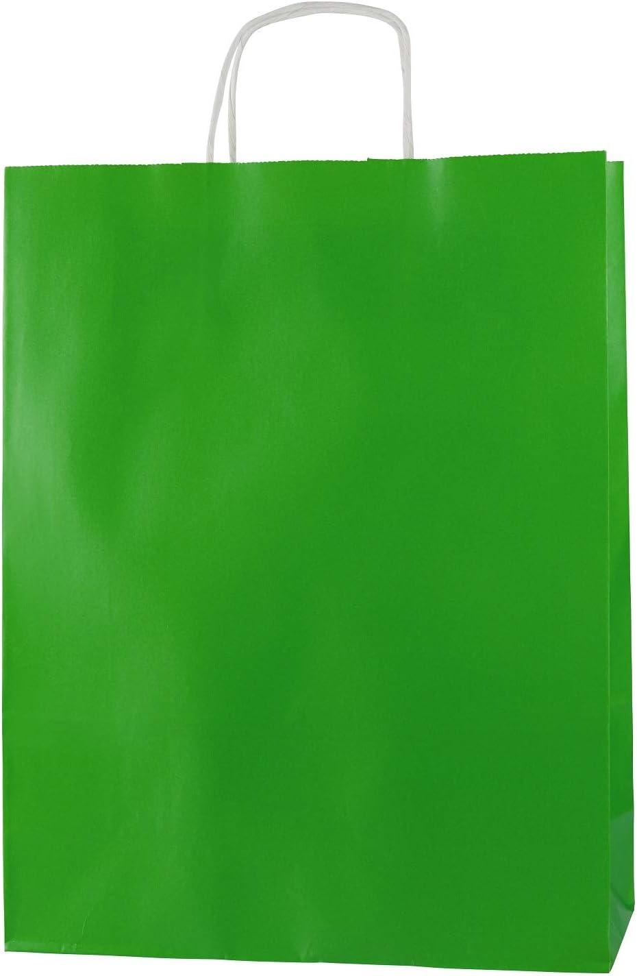 Taille 250x110x310mm 50 sacs en papier qualit/é premium avec poign/ées Rouge