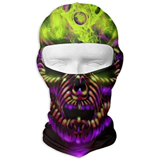 Balaclava Full Face Mask Smoky Skull Skeleton Windproof UV Protection Neck Hood Ski Mask for Motorcycle Cycling Outdoor Sports