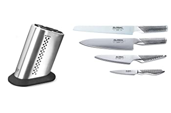Global 5 Piece Starter Knife Block Set - MetroKitchen Exclusive