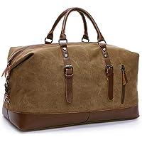 Large Capacity Canvas Weekender Bag, Portable Travel Shoulder Bag