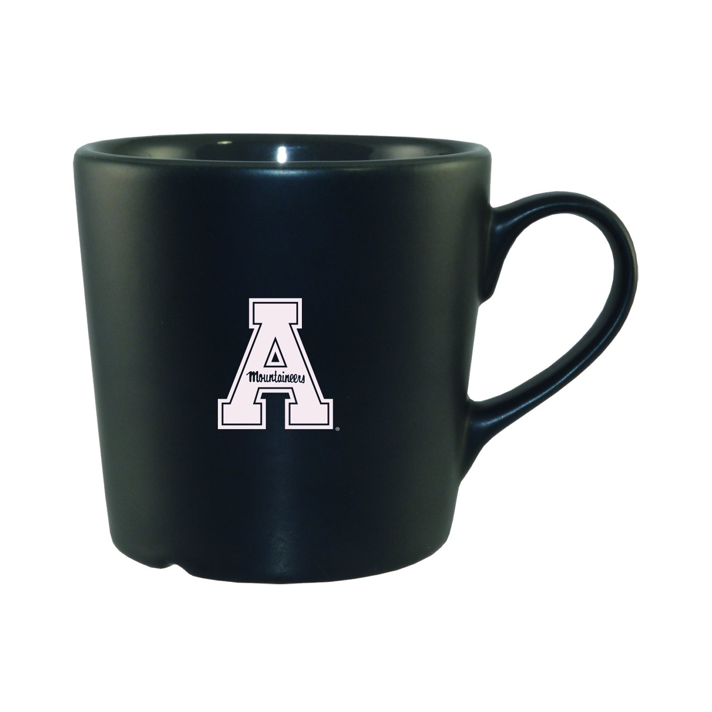 Appalachian State University|Ceramic Barista Mug Perfect for Espresso, Latte, Cappuccino|Modern Gun Metal Coloring|6 oz LXG Inc.