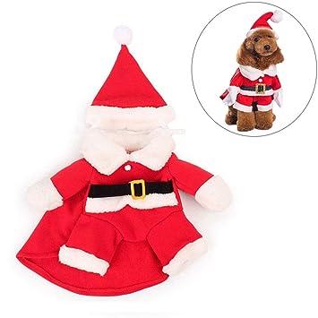 FONLAM Conjunto Traje de Navidad para Perro Cachorro Gato ...