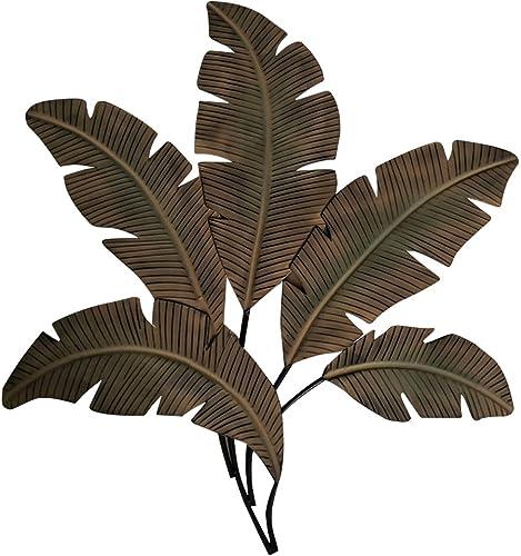 Benzara BM07982 Metal Wall D cor/Palm Leave