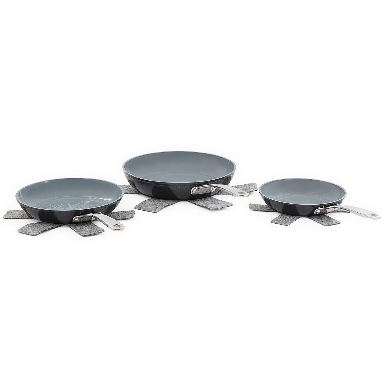- Juego de 3 sartenes de cerámica 3d myrma - Laguiole calidad Pro: Amazon.es: Hogar
