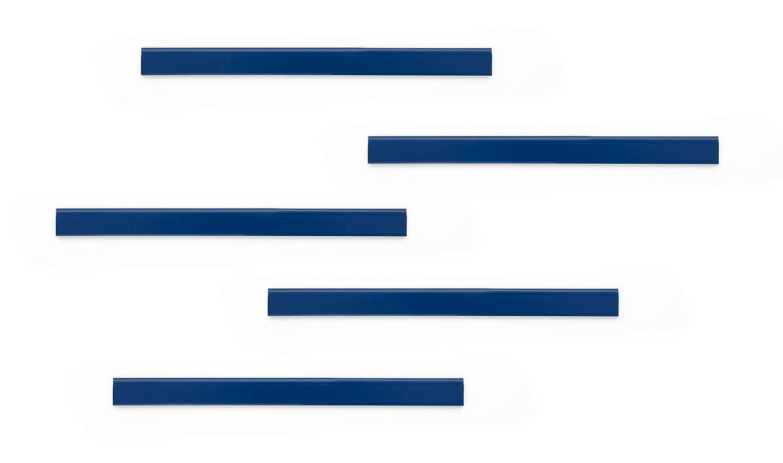 Durable 470607 Barre dAffichage pour Documents Pince Adh/ésive DURAFIX RAIL 210x17mm Lot de 5 Coloris Bleu
