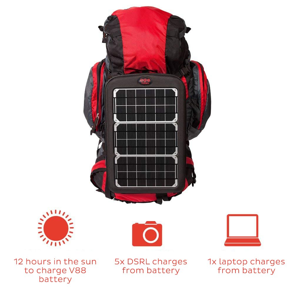 Voltaic Systems Fuse 10 Watt Rapid Solar Charger For Portable Box Laptops Includes A Battery Pack Power Bank And 2 Year Warranty Powers