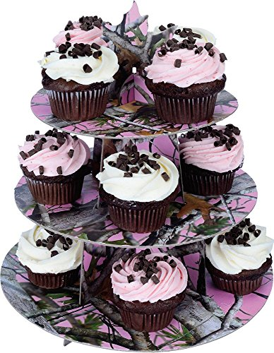 Havercamp BB76942 Pink Camo Cupcake Stand (Halloween Decoration Ideas For Cupcakes)