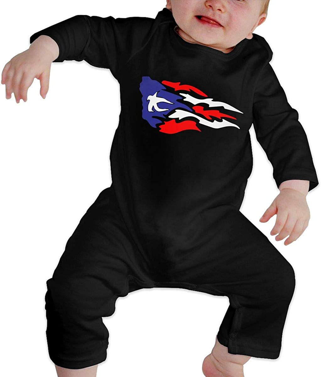 Puerto Rico Flag Organic One-Piece Bodysuits Coverall Outfits Toddler Baby Boy Romper Jumpsuit