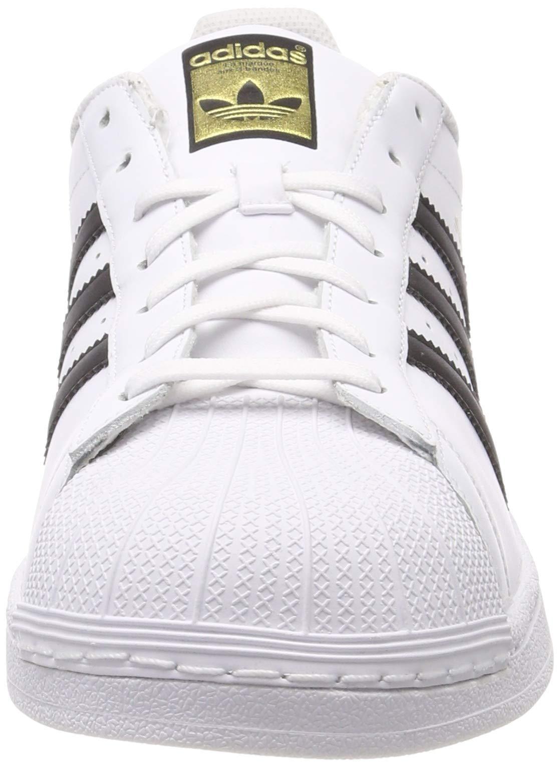 C77124 Nero Pelle Adidas 44 Bianco Scarpe Originals Unisex Superstar ZqwgBz1p