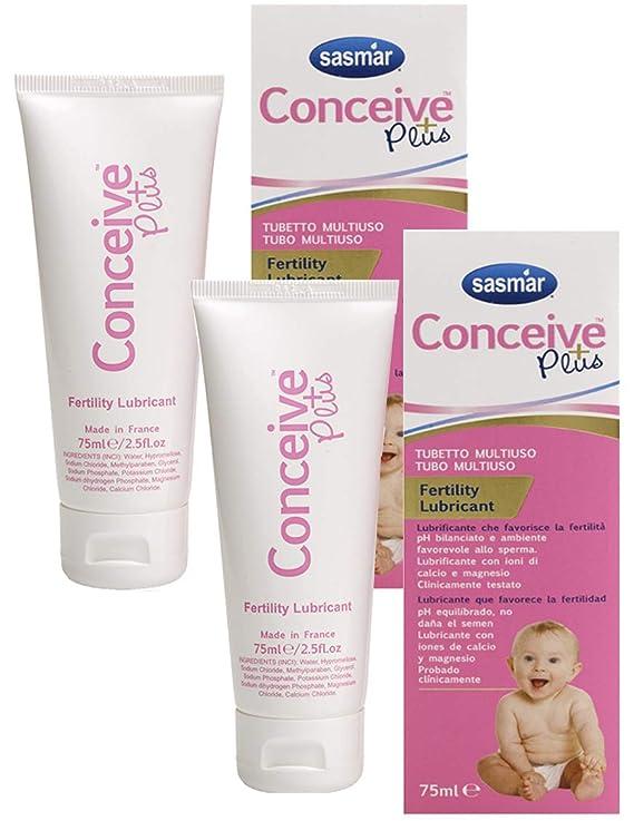 Pack 2 unidades Conceive Plus tubo 75ml: Amazon.es: Salud y cuidado personal