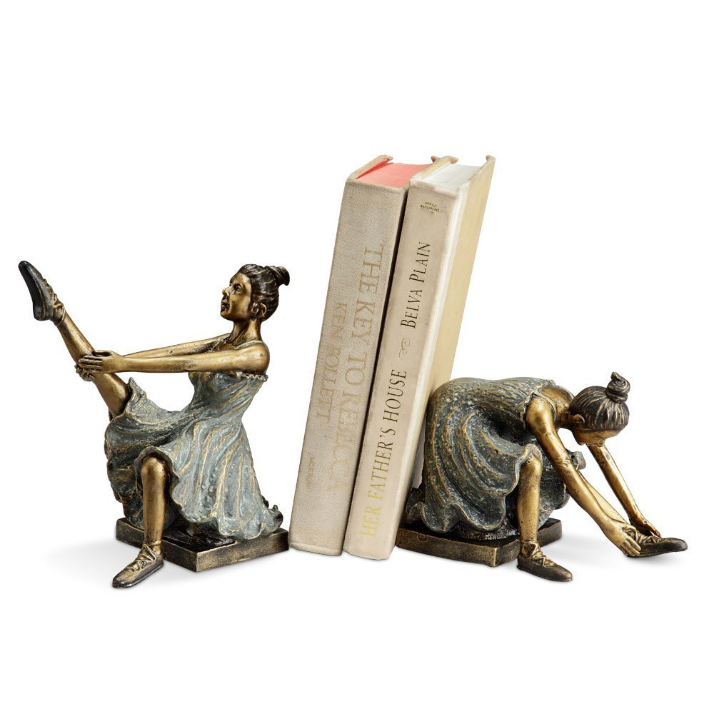 Ballerina Students Book Ends (Set of 2) SPI Home SYNCHKG123198